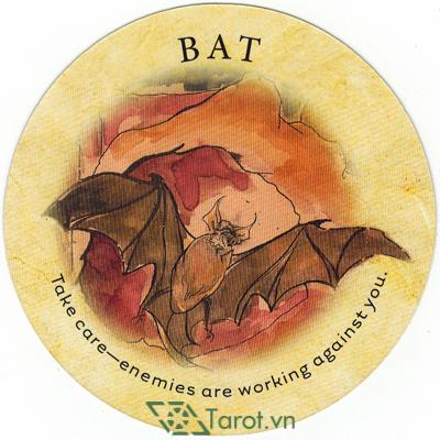 Ý nghĩa lá Bat trong bộ bài Tea Leaf Fortune Cards
