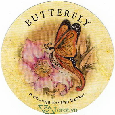 Ý nghĩa lá Butterfly trong bộ bài Tea Leaf Fortune Cards