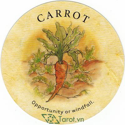 Ý nghĩa lá Carrot trong bộ bài Tea Leaf Fortune Cards