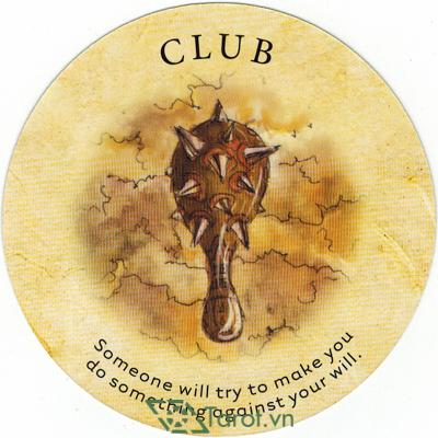 Ý nghĩa lá Club trong bộ bài Tea Leaf Fortune Cards