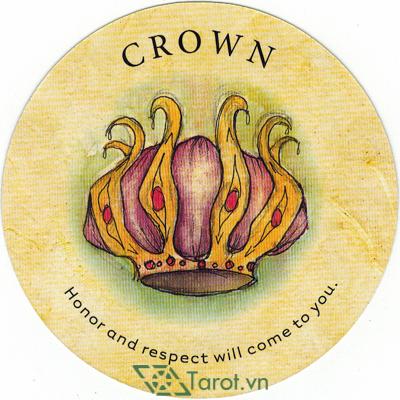 Ý nghĩa lá Crown trong bộ bài Tea Leaf Fortune Cards