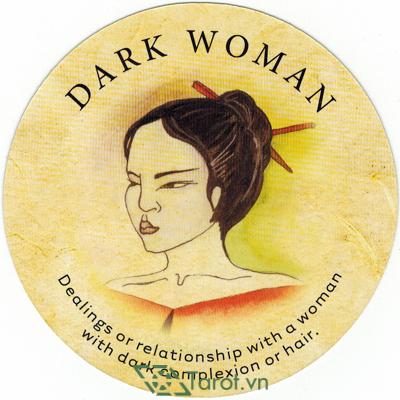 Ý nghĩa lá Dark Woman trong bộ bài Tea Leaf Fortune Cards