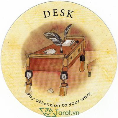 Ý nghĩa lá Desk trong bộ bài Tea Leaf Fortune Cards