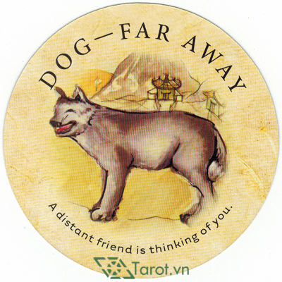 Ý nghĩa lá Dog-Far Away trong bộ bài Tea Leaf Fortune Cards