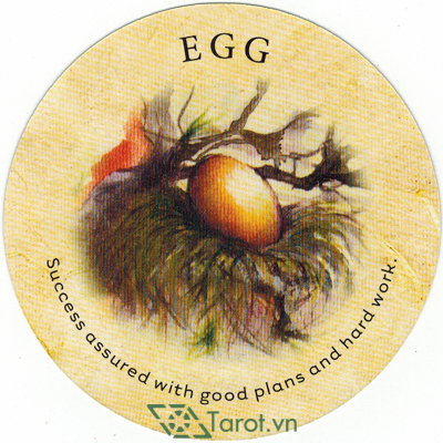 Ý nghĩa lá Egg trong bộ bài Tea Leaf Fortune Cards