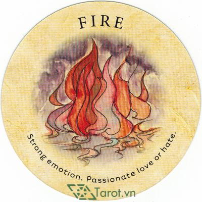 Ý nghĩa lá Fire trong bộ bài Tea Leaf Fortune Cards