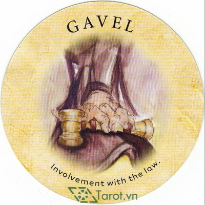 Ý nghĩa lá Gavel trong bộ bài Tea Leaf Fortune Cards