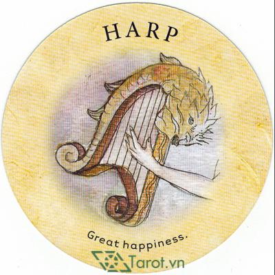 Ý nghĩa lá Harp trong bộ bài Tea Leaf Fortune Cards