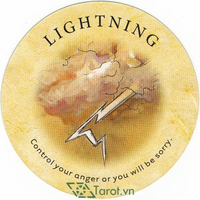 Ý nghĩa lá Lightning trong bộ bài Tea Leaf Fortune Cards