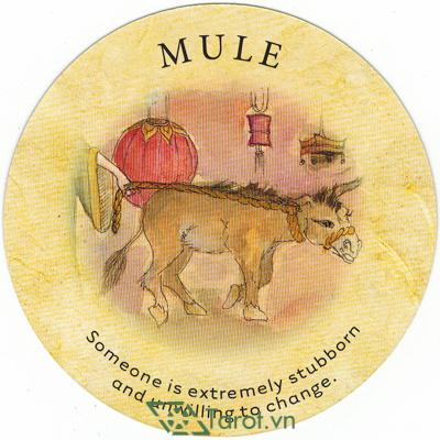 Ý nghĩa lá Mule trong bộ bài Tea Leaf Fortune Cards