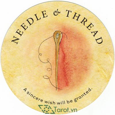 Ý nghĩa lá Needle & Thread trong bộ bài Tea Leaf Fortune Cards
