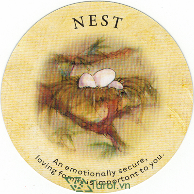 Ý nghĩa lá Nest trong bộ bài Tea Leaf Fortune Cards