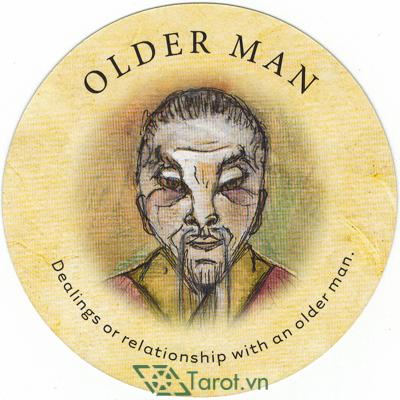 Ý nghĩa lá Older Man trong bộ bài Tea Leaf Fortune Cards
