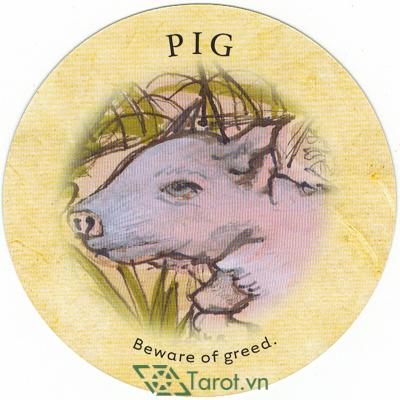 Ý nghĩa lá Pig trong bộ bài Tea Leaf Fortune Cards