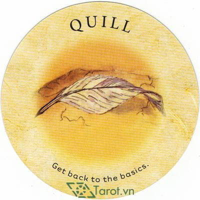 Ý nghĩa lá Quill trong bộ bài Tea Leaf Fortune Cards