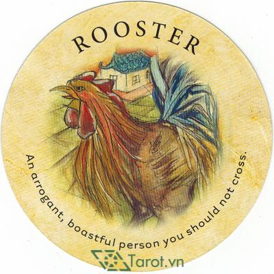 Ý nghĩa lá Rooster trong bộ bài Tea Leaf Fortune Cards