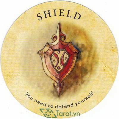 Ý nghĩa lá Shield trong bộ bài Tea Leaf Fortune Cards