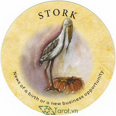 Ý nghĩa lá Stork trong bộ bài Tea Leaf Fortune Cards