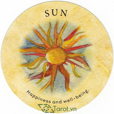 Ý nghĩa lá Sun trong bộ bài Tea Leaf Fortune Cards