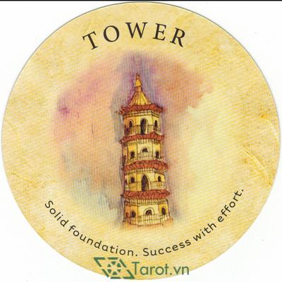 Ý nghĩa lá Tower trong bộ bài Tea Leaf Fortune Cards