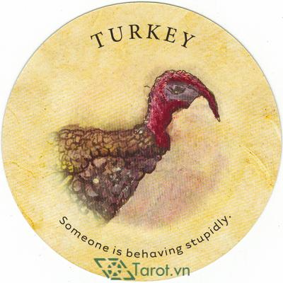 Ý nghĩa lá Turkey trong bộ bài Tea Leaf Fortune Cards