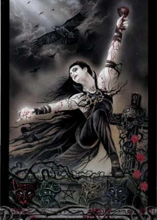 Lá Bài 0. The Fool – Tarot of Vampyres