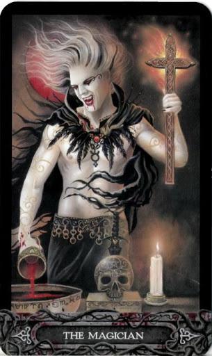 Ý nghĩa lá bài I. The Magician trong bộ bài Tarot of Vampyres