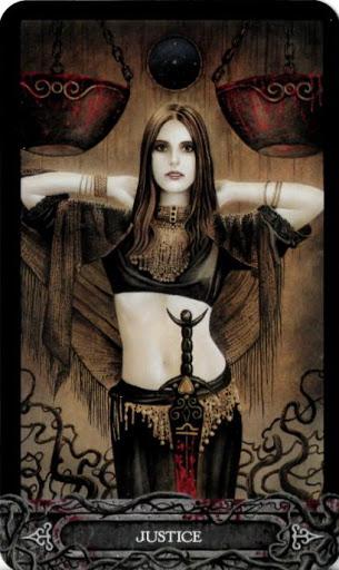 Lá Bài VIII. Justice - Tarot of Vampyres 1