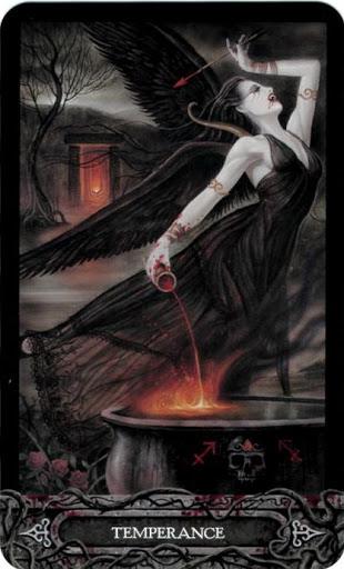 Ý nghĩa lá bài XIV. Temperance trong bộ bài Tarot of Vampyres