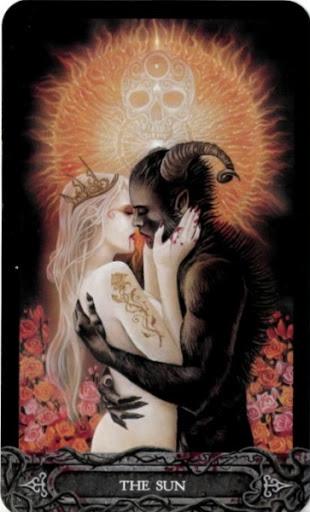 Ý nghĩa lá bài XIX. The Sun trong bộ bài Tarot of Vampyres