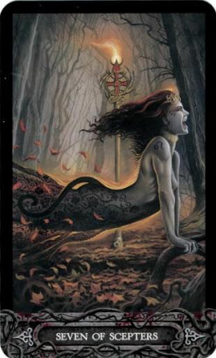 Ý nghĩa lá bài Seven of Scepters trong bộ bài Tarot of Vampyres