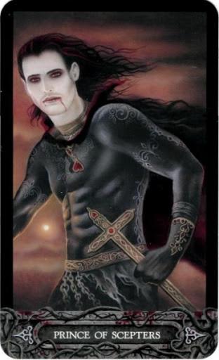 Ý nghĩa lá bài Prince of Scepters trong bộ bài Tarot of Vampyres
