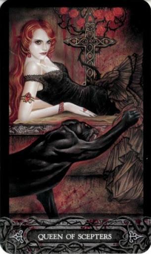 Ý nghĩa lá bài Queen of Scepters trong bộ bài Tarot of Vampyres