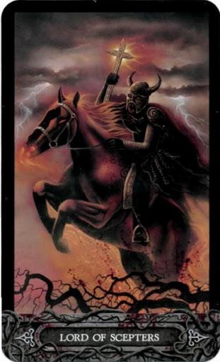 Ý nghĩa lá bài Lord of Scepters trong bộ bài Tarot of Vampyres