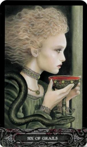 Ý nghĩa lá bài Six of Grails trong bộ bài Tarot of Vampyres