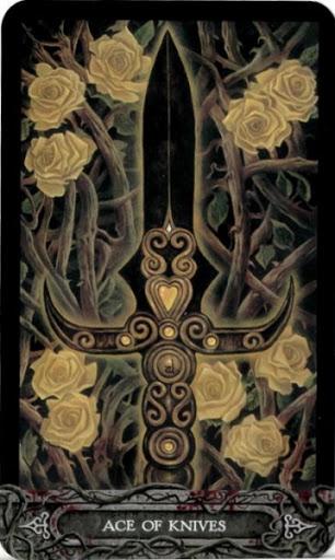 Ý nghĩa lá bài Ace of Knives trong bộ bài Tarot of Vampyres