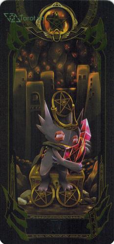 4 of pentacles - pokemon tarot