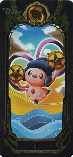 2 of pentacles - pokemon tarot