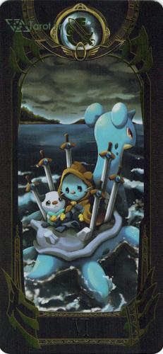 6 of swords - pokemon tarot