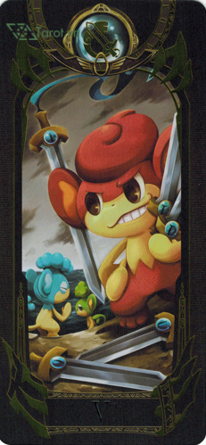 5 of swords - pokemon tarot