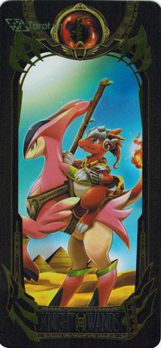 knight of wands - pokemon tarot