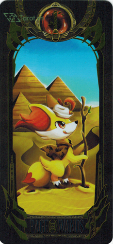 page of wands - pokemon tarot