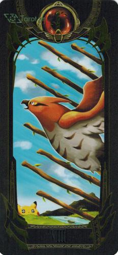 8 of wands - pokemon tarot