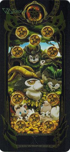 10 of pentacles - pokemon tarot