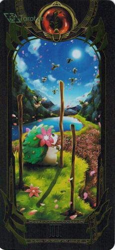 3 of wands - pokemon tarot