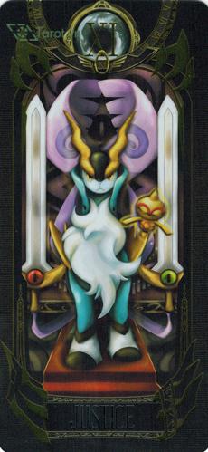 justice - pokemon tarot