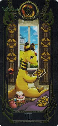 8 of pentacles - pokemon tarot