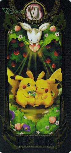 the lovers - pokemon tarot