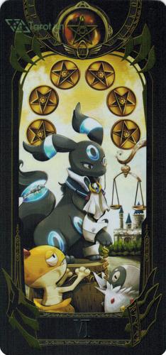6 of pentacles - pokemon tarot