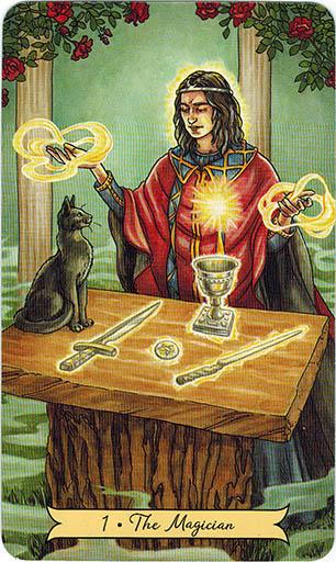 Ý nghĩa lá 1. The Magician trong bộ bài Everyday Witch Tarot